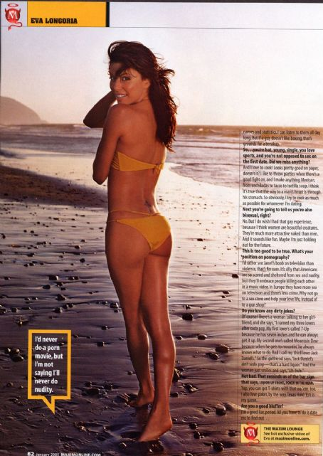Eva Longoria - Maxim Magazine Pictorial [United States] (January 2005)