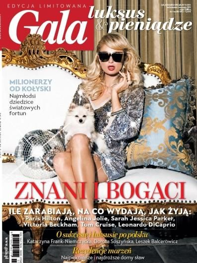 Paris Hilton - Gala Magazine Cover [Poland] (October 2011)