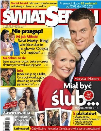 Michal Czarnecki, Aneta Zajac - Swiat Seriali Magazine Cover [Poland] (13 February 2012)
