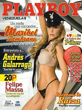 Maribel Zambrano - Playboy Magazine Cover [Venezuela] (April 2009)