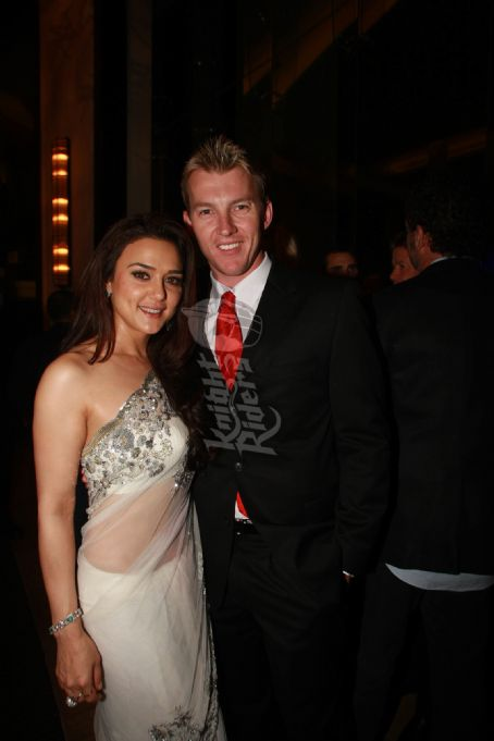 Preity Zinta Brett Lee and  at the IPL Gala in South Africa 2009.