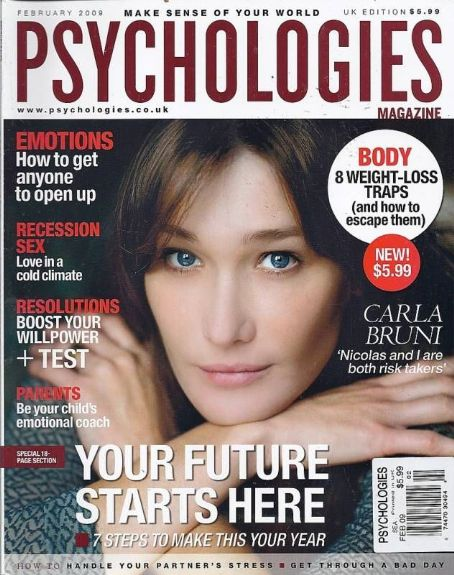 Carla Bruni - Psychologies Magazine Cover [United Kingdom] (February 2009)