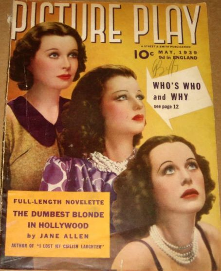 Hedy Lamarr - Picture Play Magazine [United States] (May 1939)