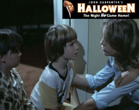 Halloween Brian Andrews as Tommy Doyle in a scene from  with Kyle Richards and Jamie Lee Curtis
