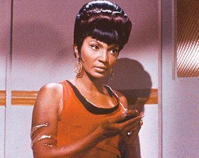 Nichelle Nichols  as Uhura in Star Trek Series