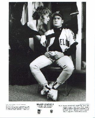 Margaret Whitton and Charlie Sheen in Major League