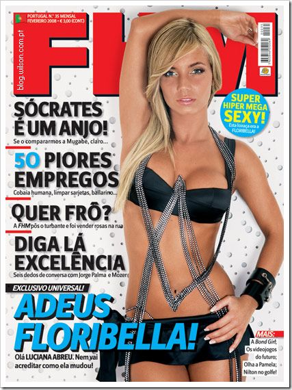 Luciana Abreu - FHM Magazine Cover [Portugal] (February 2008)