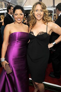 Sara Ramirez and Brooke Smith