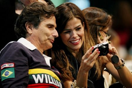 Nelson Piquet and Viviane Leão