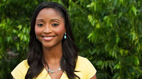Isha Sesay  in Yellow Dress