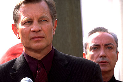 Megiddo: The Omega Code 2 Michael York and Udo Kier in 8X Entertainment's Megiddo - 2001