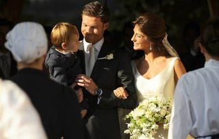 Xabi Alonso and Nagore Aranburu