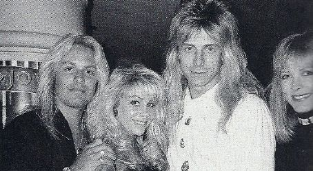 Elaine Starchuk Vince and Sharise Neil with Greg Giuffria and Candace