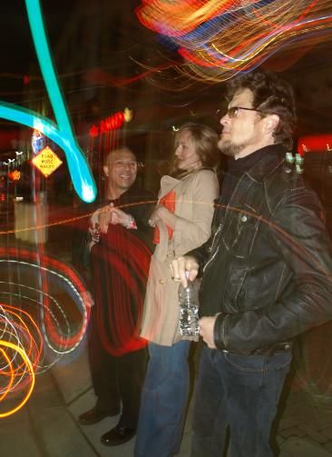 Jason Newsted and Nicole Smith Jason and Nicole with a friend