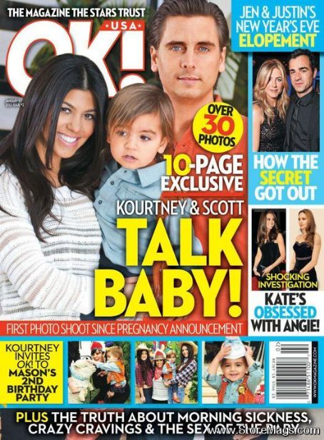 Kourtney Kardashian, Scott Disick - OK! Magazine Cover [United States] (9 January 2012)