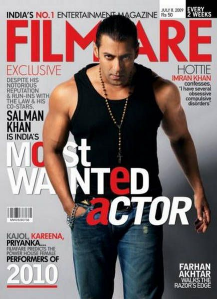 Salman Khan - Filmfare Magazine [India] (8 July 2009)