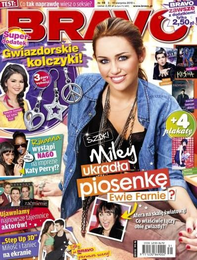 Miley Cyrus - Bravo Magazine [Poland] (3 August 2010)