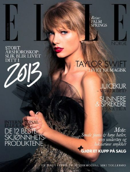 Taylor Swift - Elle Magazine Cover [Norway] (January 2013)