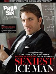 Henrik Lundqvist - Page Six Magazine [United States] (4 January 2009)