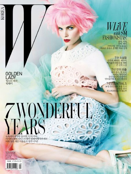 Maryna Linchuk - W Magazine Cover [Korea, North] (5 March 2012)