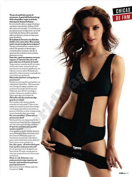 Angela Sarafyan  - FHM Magazine Pictorial [Spain] (November 2011)