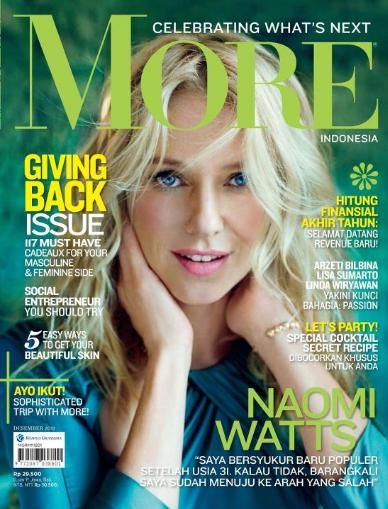 Naomi Watts - More! Magazine Cover [Indonesia] (December 2011)