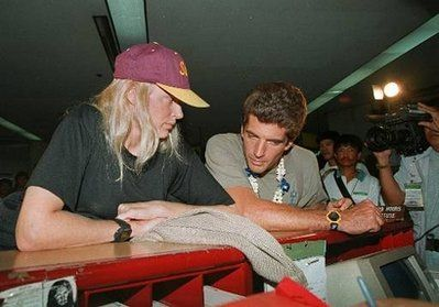 John Kennedy Jr. - Daryl Hannah and John F. Kennedy, Jr