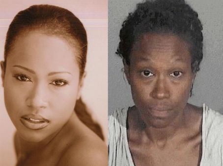 Maia Campbell  went from chocolate goddess to this after a long bout with a drug addiction. She's getting better now….but unfortunately, she'll always have this pic to look back on