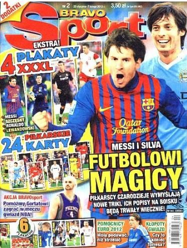 David Silva, Lionel Messi - BRAVO sport Magazine Cover [Poland] (25 January 2012)
