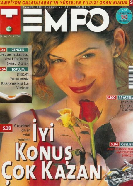 Sebnem Dönmez - Tempo Magazine Cover [Turkey] (1 June 1999)