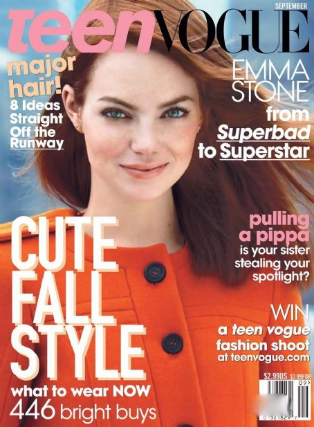 Emma Stone - Teen Vogue Magazine Cover [United States] (September 2011)