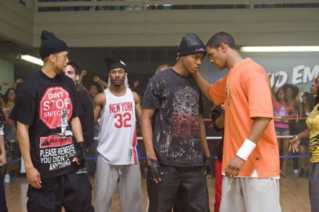 """Affion Crockett A-Con (, extreme left) and Thomas (Damon Wayans, Jr., extreme right) in the comic spoof """"Dance Flick."""" Photo Credit: Glen Wilson. Copyright ©2009 by PARAMOUNT PICTURES CORPORATION. All Rights Reserved."""
