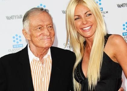 Hugh Hefner and Crystal Harris Reportedly Engaged - Again