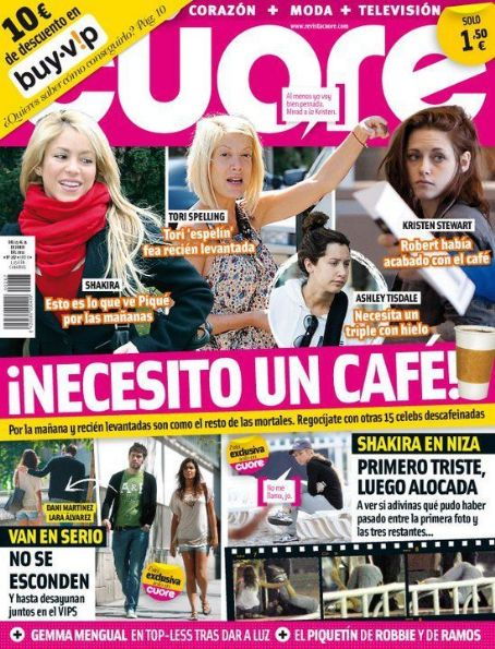 Tori Spelling, Shakira - Cuore Magazine Cover [Spain] (15 June 2011)