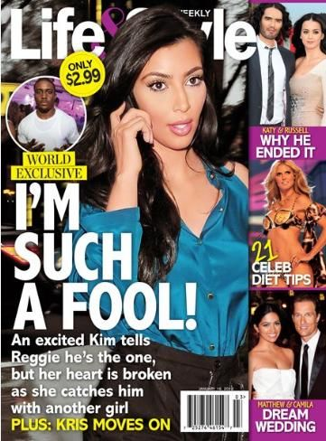 Kim Kardashian - Life & Style Magazine Cover [United States] (16 January 2012)
