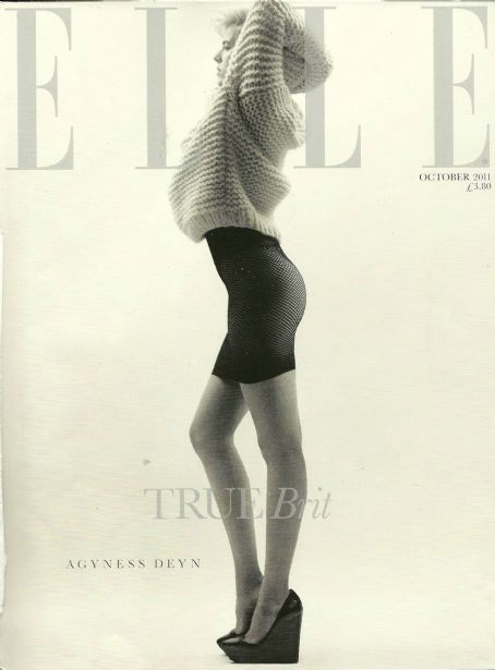 Agyness Deyn Elle UK October 2011
