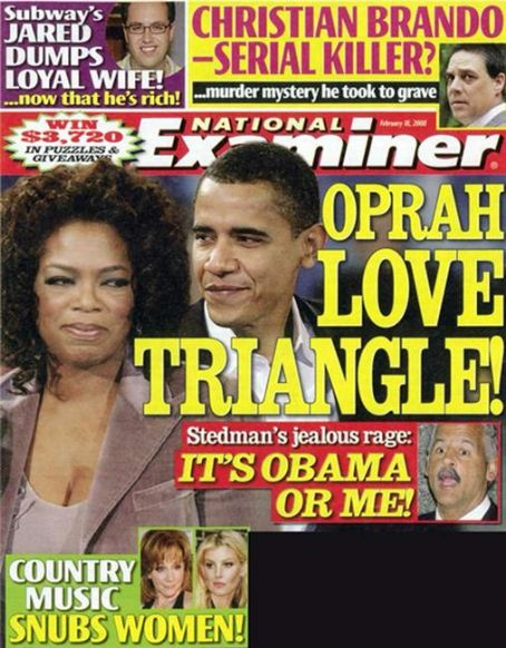 Oprah Winfrey - National Examiner Magazine [United States] (18 February 2008)