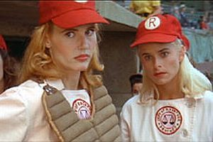 Bitty Schram Geena Davis as Dotty Hinson and  as Evelyn Gardner in A League of Their Own (1992)