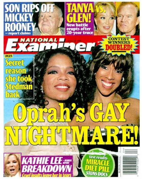 Oprah Winfrey - National Examiner Magazine [United States] (22 January 2007)