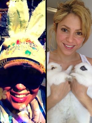 Thalia and Shakira Get Bunny Fever