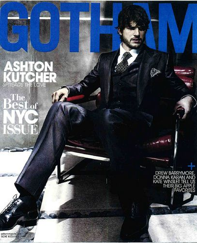 Ashton Kutcher - Gotham Magazine Cover [United States] (August 2009)