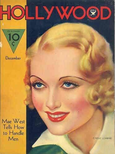 Carole Lombard - Hollywood Magazine [United States] (December 1933)