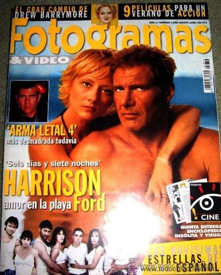 Harrison Ford, Anne Heche - Fotogramas Magazine Cover [Spain] (August 1998)