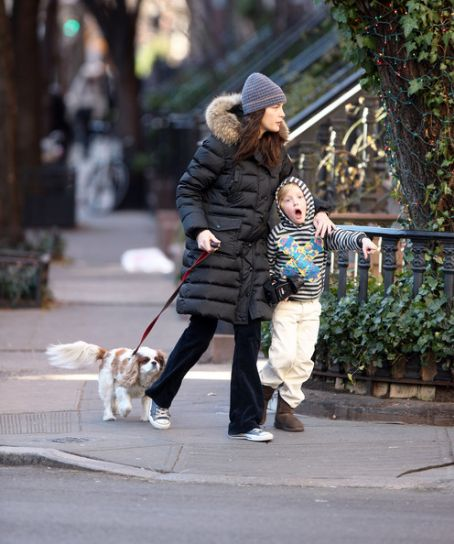 Liv Tyler And Son Milo Out Walking Their Dog