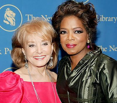 Barbara Walters  with Oprah Winfrey