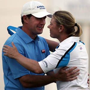 Annika Sorenstam and Mike McGee