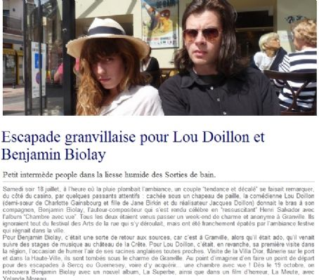 Lou Doillon  and Benjamin Biolay