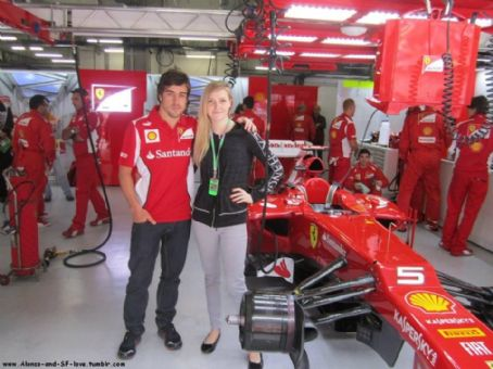 Dasha Kapustina Fernando Alonso and
