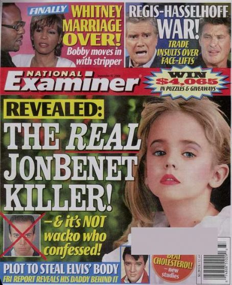 JonBenét Ramsey - National Examiner Magazine [United States] (11 September 2006)