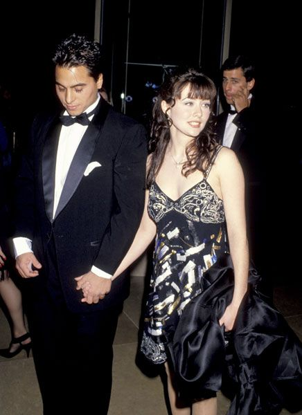 Chris Foufas  and Shannen Doherty